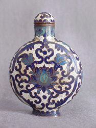 19th Chinese Cloisonné Snuff Bottle