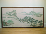 Early 20th C. Chinese Folding Screen