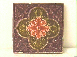 19th C. Arts and Crafts American Ceramic Tile