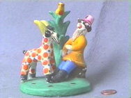 VIntage Russian Fairy Tale Folk Art Clay Figure