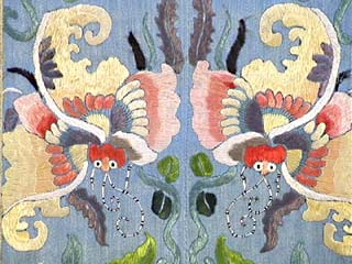 19th C. Chinese Silk Embroidered Robe Fragment